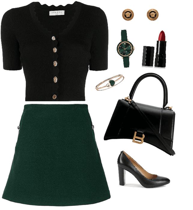 black & emerald tue