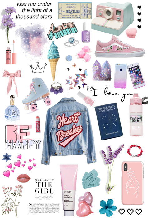 pink and blue aesthetic