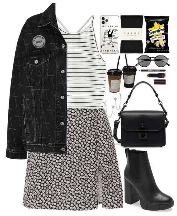 Mixed Style. Floral and Stripes