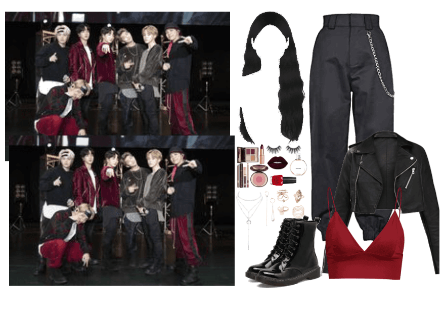 the 8th member: Mic Drop outfit3