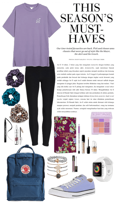 VSCO & purple fall outfit