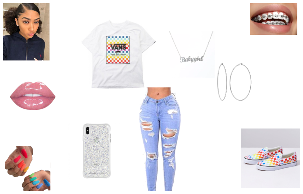 Rainbow Baddie Outfit Shoplook