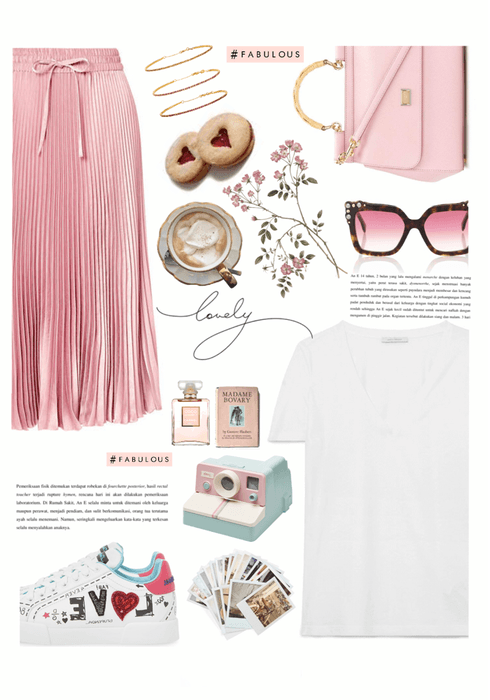 the basic outfit with the white t-shirt