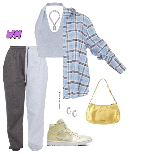 Grey Yellow Jogger