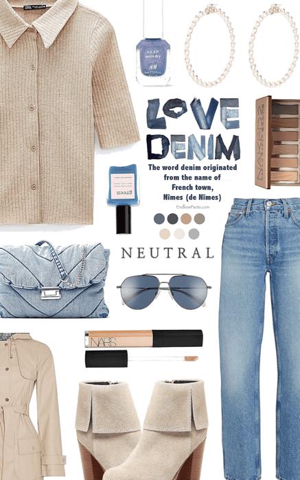 denim and neutrals