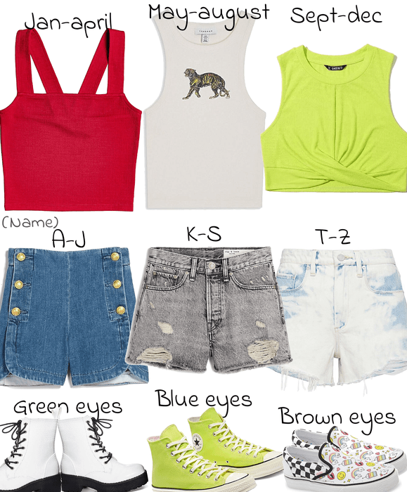 CHALLENGE: choose what pertains to you and make an outfit/set based off of that!💚