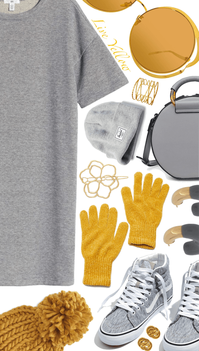 Grey and yellow💓💓💓