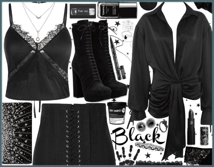 Black: Silk & Lace