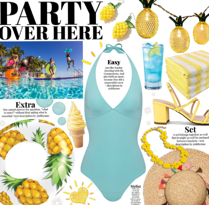 Party over here| pineapple 🍍🏝🏊♂️