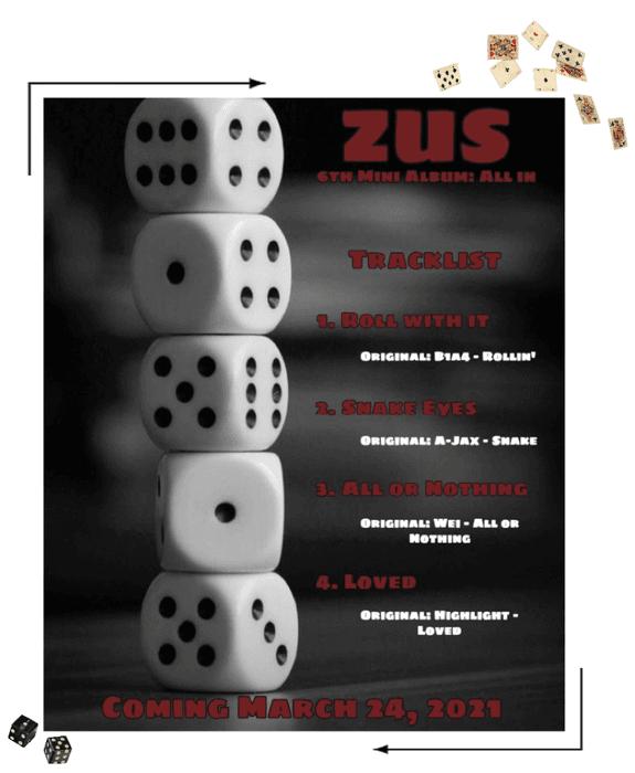 Zus//6th Mini Album: 'All In' Tracklist