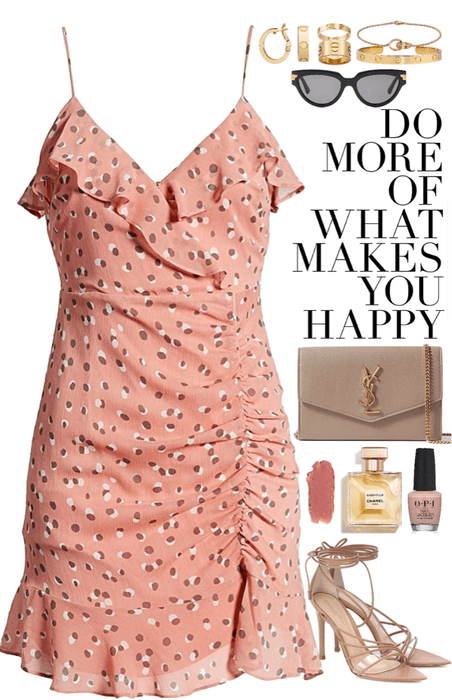 simple & cute pink dress look
