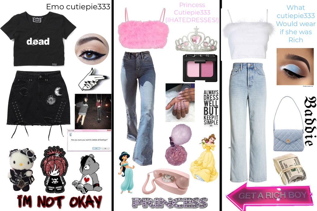 what I would wear if I was rich, if I was a princess, and if I was emo :)