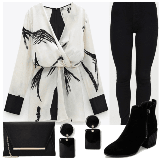 black & white & a touch of gold