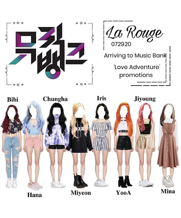 La Rouge arriving at Music Bank 2020.07.29