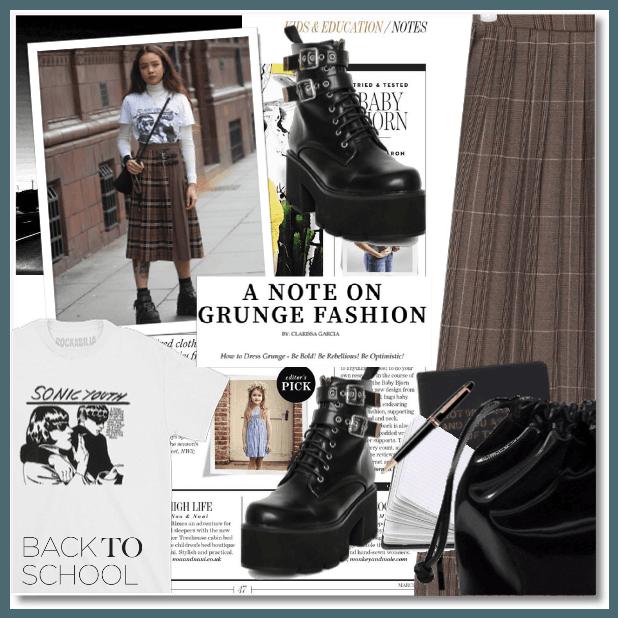 Back2School: A Note on Grunge Fashion