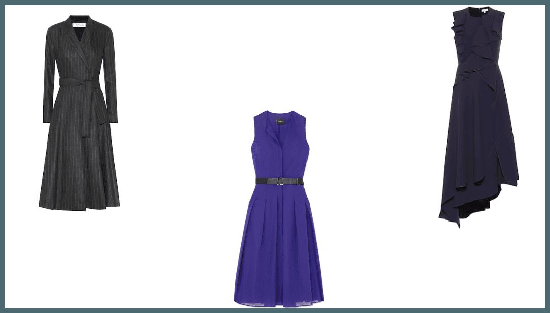vestidos lisos midi cortos