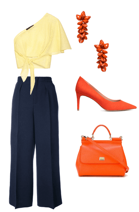 One shoulder dinner outfit