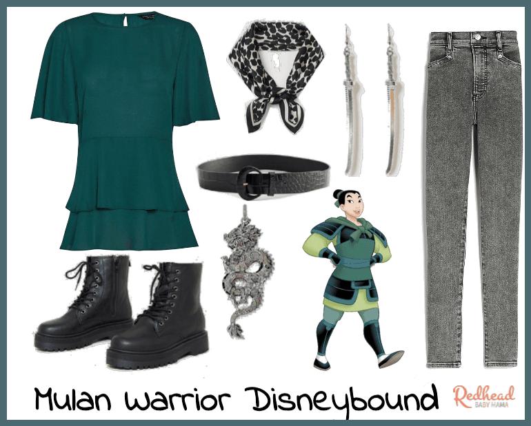 Mulan Disneybound Armor Look