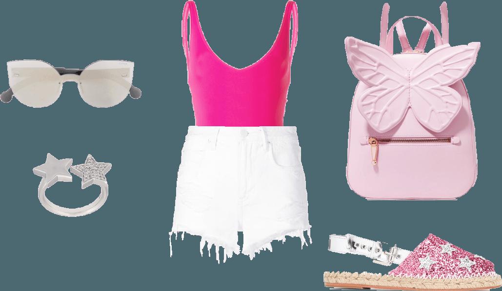 Ахромат + фуксия + розовый