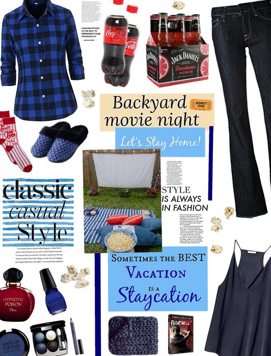 Stay at home/ Backyard movie night