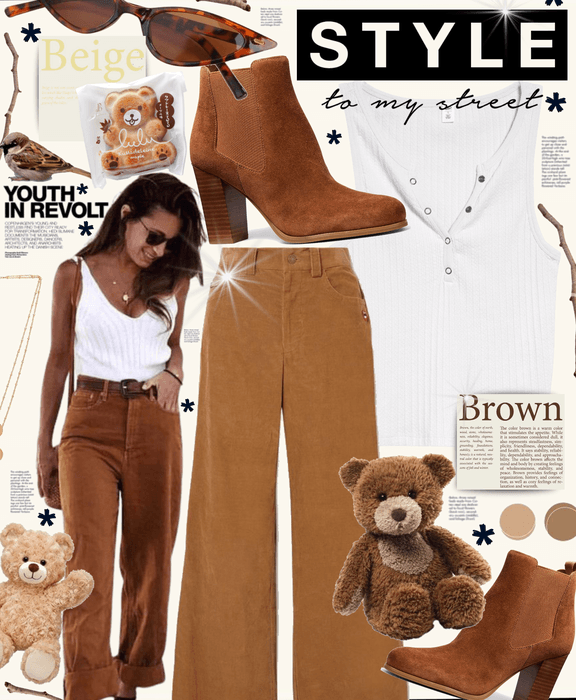 beige brown style