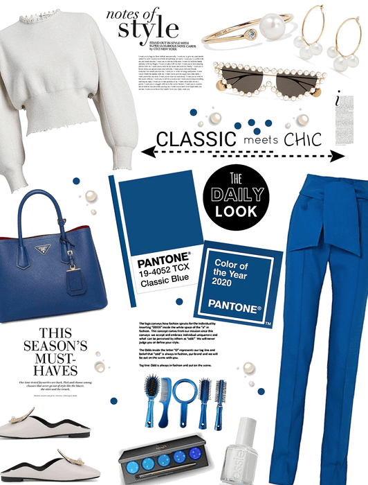 Classic meets chic.  Pantone color of the year 2020