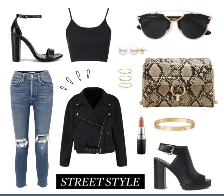 Casual Black Street Style