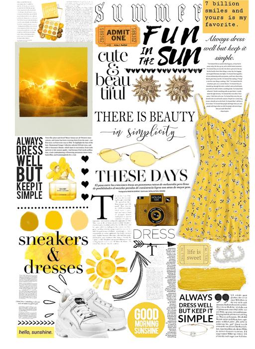 sunny simple dress