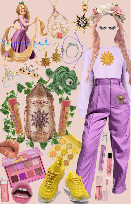 Rapunzel Disneybounding Collage!