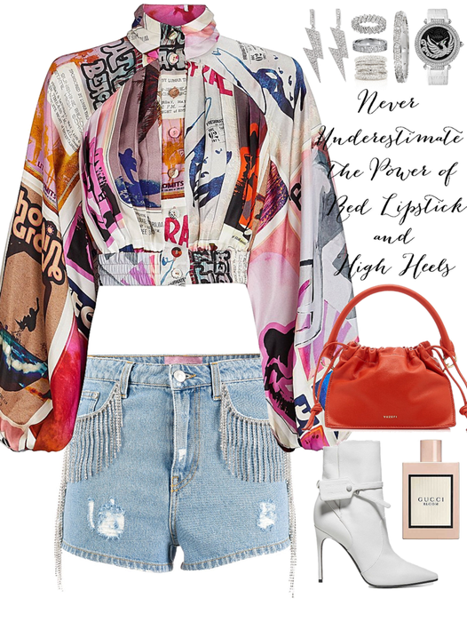 colorful outfit with diamonds