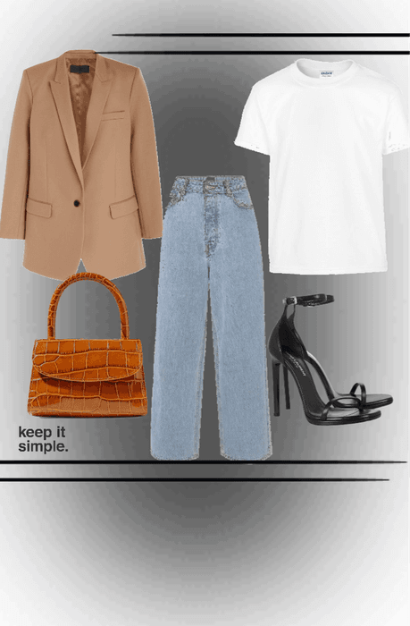 The simple white tee outfit