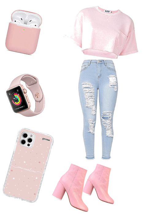 casual pastel pink