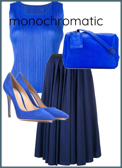 Monochromatic Blue