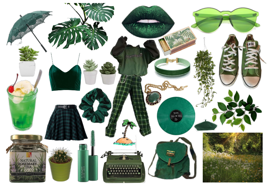 me if i were obsessed with green