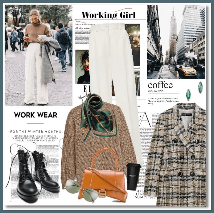 Winter Working Girl