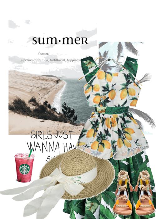 Summer Lemon Leaf Beach