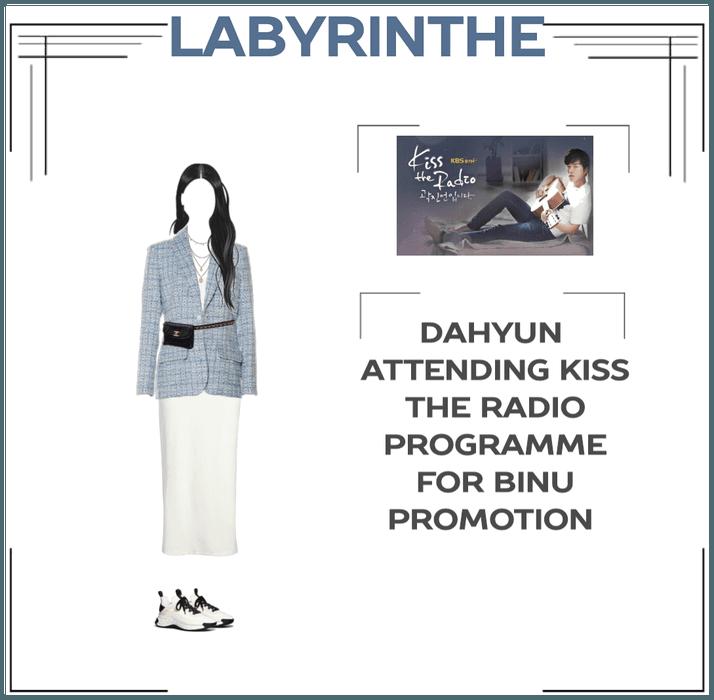 Dahyun on kiss the radio for binu PROMOTION
