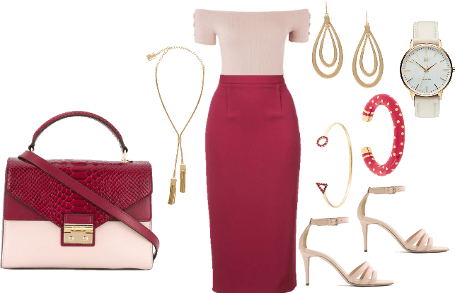 statement in red