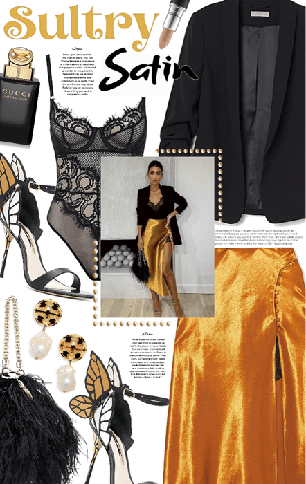 Sultry Satin : Night Look.
