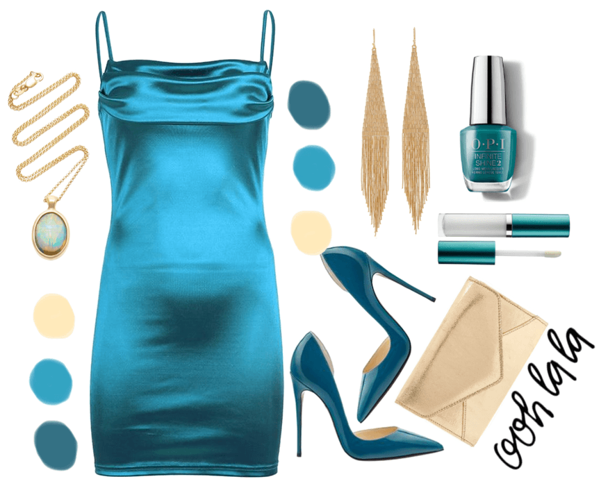 Teal outfit 1