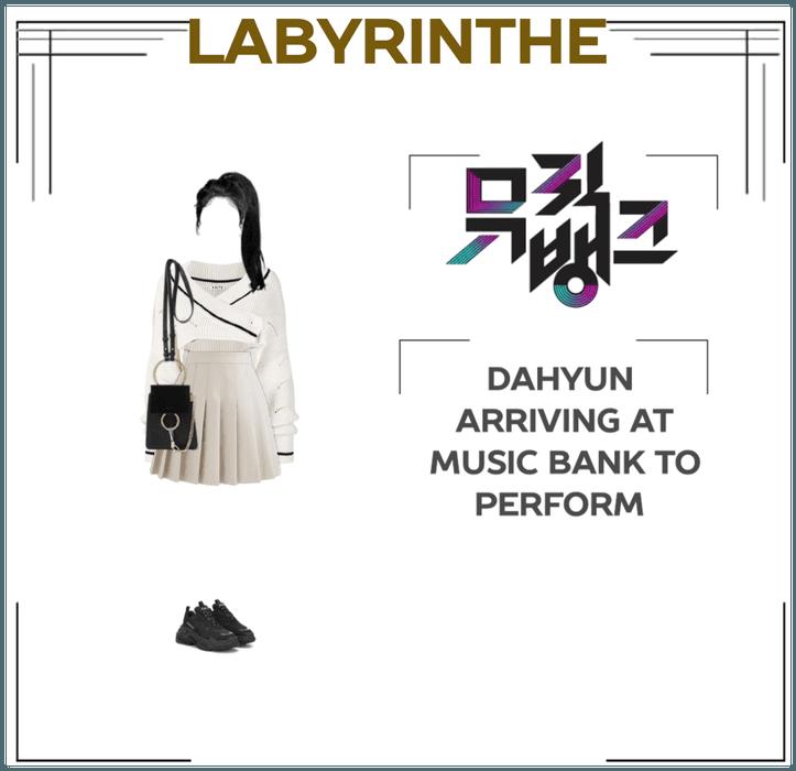 Dahyun arriving at MUSIC BANK to perform
