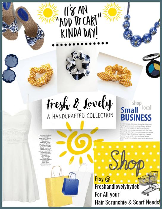 Shop online! White blue yellows