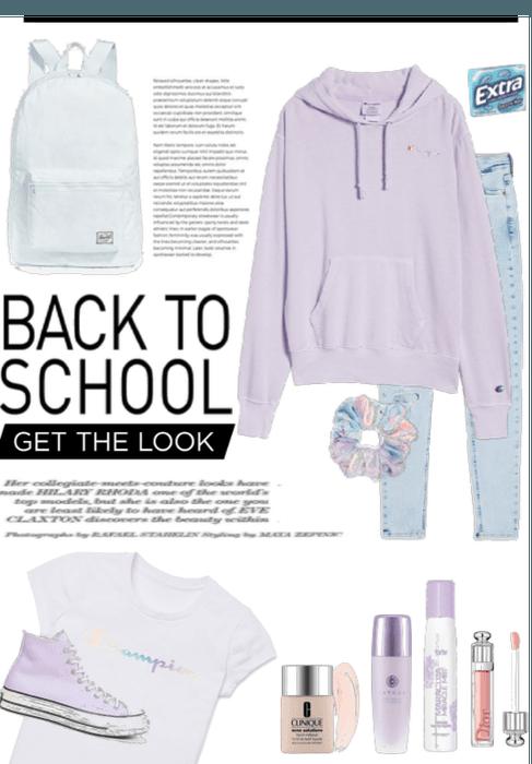 Back to school Purple
