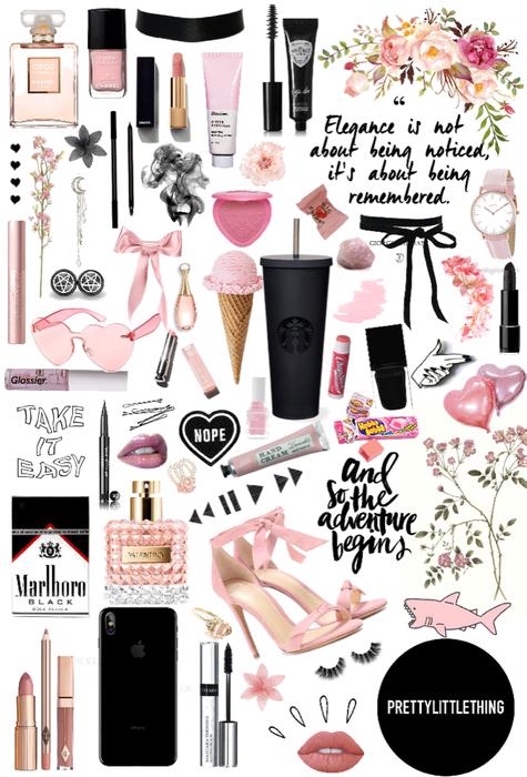black & pink aesthetic