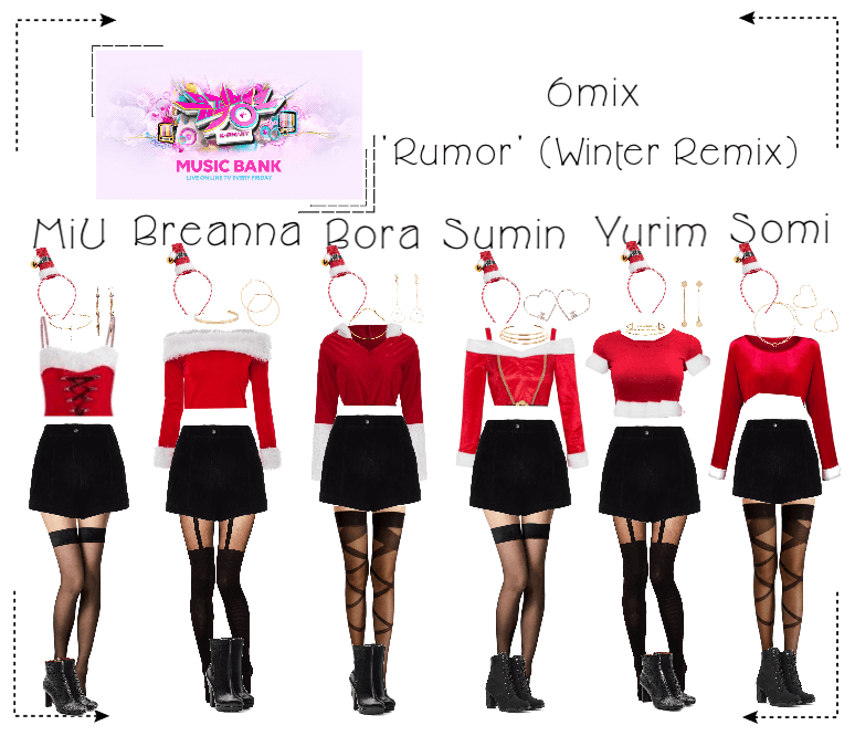 《6mix》Music Bank 'Rumor' (Winter Version)