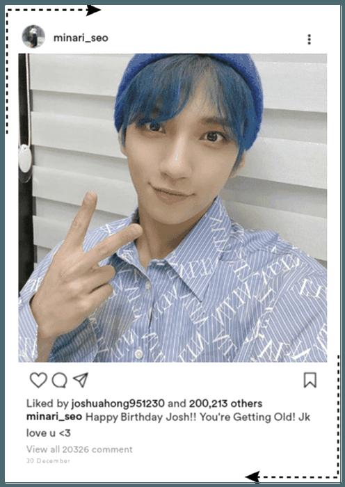 || SVT MINA || Instagram Post for Joshua