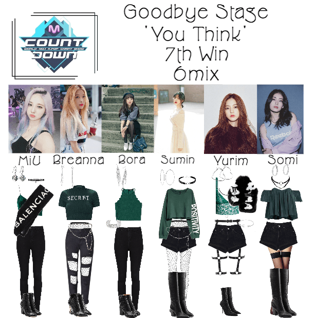 6mix - MCountdown Goodbye Stage 'You Think'