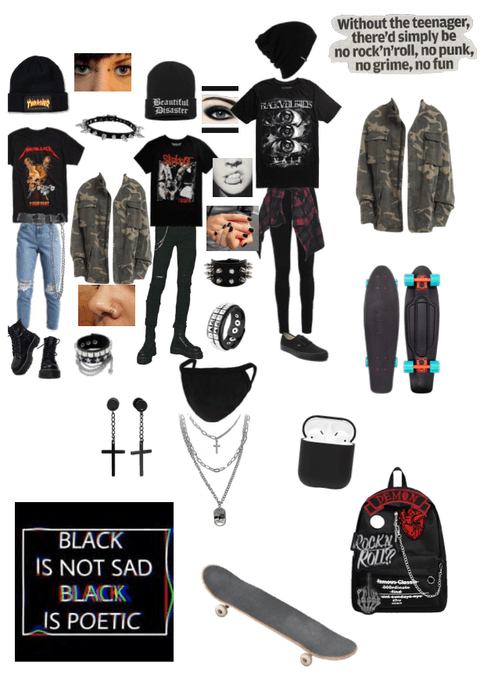 Alternative emo grunge outfit