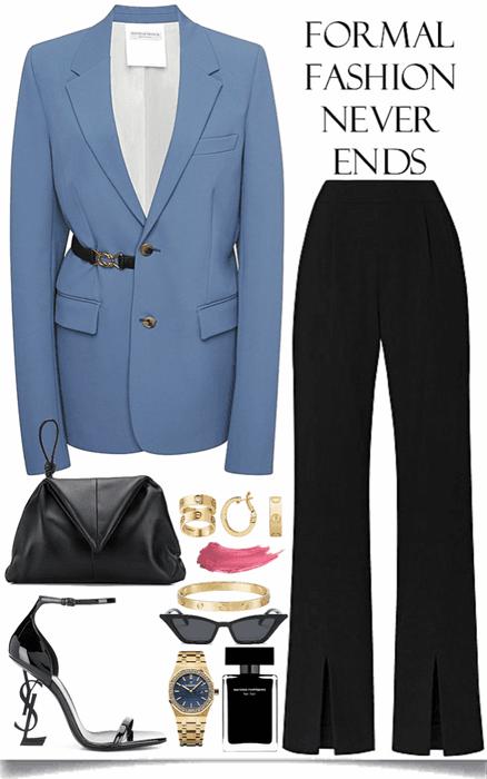 nice blue blazer look
