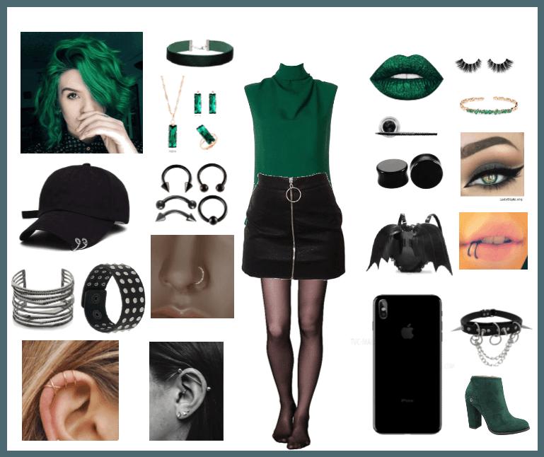 Emerald Green Grunge